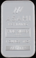 "1 Troy Ounce .999 Fine Silver ""Asahi Refining"" Bullion Bar at PristineAuction.com"