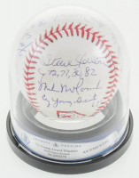 "Cy Young Logo Baseball Signed by (10) with Dwight ""Doc"" Gooden, Tom Seaver, Bob Gibson, Steve Carlton with Multiple Inscriptions (BGS Encapsulated & MAB Hologram) at PristineAuction.com"