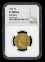 1800 $5 Draped Bust Gold Five Dollar Coin (NGC XF Detials) (Cleaned) at PristineAuction.com