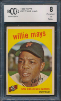 Willie Mays 1959 Topps #50 (BCCG 8) at PristineAuction.com