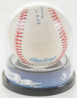 Yankees Perfect Game Pitchers / Catchers OML Baseball Signed by (6) with Yogi Berra, David Cone, Don Larsen, David Wells (BGS Encapsulated) at PristineAuction.com