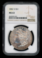 1882-S $1 Morgan Silver Dollar (NGC MS63) at PristineAuction.com