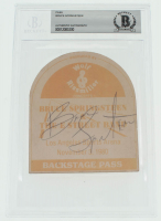 "Bruce Springsteen Signed ""Bruce Springsteen & The E Street Band"" Concert Backstage Pass (BGS Encapsulated) at PristineAuction.com"