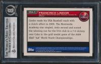 Francisco Lindor Signed 2010 Bowman Chrome USA Stars #USA5 (BGS Encapsulated) at PristineAuction.com