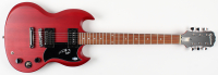 """Angus Young Signed Full-Size Electric Guitar Inscribed """"ACDC"""" (Beckett COA) at PristineAuction.com"""
