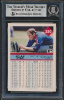 Nolan Ryan Signed 1992 Fleer #320 (BGS Encapsulated) at PristineAuction.com