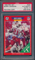 Barry Sanders Signed 1989 Pro Set #494 RC (BGS Encapsulated) at PristineAuction.com