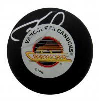 Cam Neely Signed Canucks Logo Hockey Puck (PSA COA) at PristineAuction.com