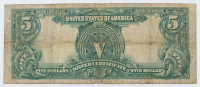 """1899 $5 Five-Dollar """"Indian Chief"""" U.S. Silver Certificate Large-Size Bank Note at PristineAuction.com"""