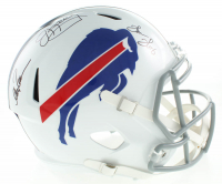 Jim Kelly, Thurman Thomas & Andre Reed Signed Bills Full-Size Speed Helmet (JSA COA) at PristineAuction.com
