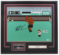 "Mike Tyson Signed ""Punch-Out!!"" 24x26 Custom Framed Photo Display with Replica Controller (JSA COA) at PristineAuction.com"