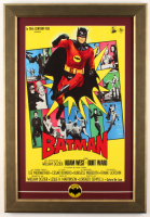 """Batman"" 16.5x22.5 Custom Framed Italian Movie Poster with 1966 Batman Metal Lapel Pin at PristineAuction.com"