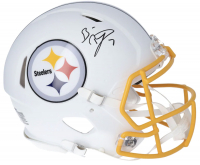Ben Roethlisberger Signed Steelers Full-Size Authentic On-Field Matte White Speed Helmet (Fanatics Hologram) at PristineAuction.com