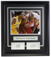 Kobe Bryant & Michael Jordan 14x18 Custom Framed Photo Display at PristineAuction.com