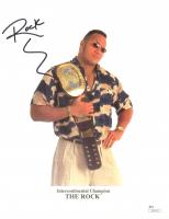 "Dwayne ""The Rock"" Johnson Signed WWF 8.5x10 Photo (JSA COA) at PristineAuction.com"