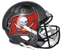 Rob Gronkowski Signed Buccaneers Full-Size Speed Helmet (Fanatics Hologram) at PristineAuction.com