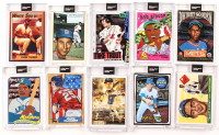 Lot of (10) 2020 Topps Project Cards With Mike Trout #85, Ted Williams #90, Sandy Koufax #89, Ken Griffey Jr. #88 at PristineAuction.com