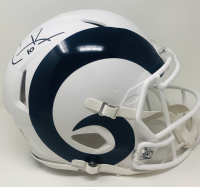 Cooper Kupp Signed Rams Full-Size Authentic On-Field Matte White Speed Helmet (Fanatics Hologram) at PristineAuction.com
