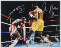 "Thomas ""Hitman"" Hearns & Sugar Ray Leonard Signed 11x14 Photo (PSA COA) at PristineAuction.com"