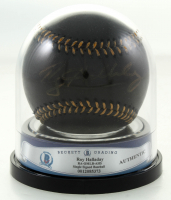 Roy Halladay Signed OML Black Leather Baseball (BGS Encapsulated) at PristineAuction.com