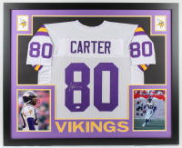 Cris Carter Signed 35x43 Custom Framed Jersey (Beckett COA) at PristineAuction.com