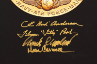 """""""American Fighter Aces"""" 18x24 Stretched Canvas Signed by (7) with Steve Ritchie, Billy Watts, Frank McCauley, Bud Anderson (PSA LOA) at PristineAuction.com"""