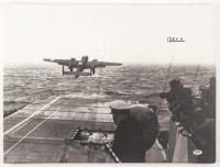 Richard E. Cole Signed USS Hornet Doolittle Raid Take Off 18x24 Photo on Canvas (PSA COA) at PristineAuction.com
