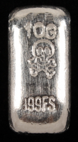 10 Grams .999 Silver Skull & Crossbones Bullion Bar at PristineAuction.com