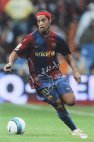 Ronaldinho Signed Barcelona 12x18 Photo (PSA COA) at PristineAuction.com