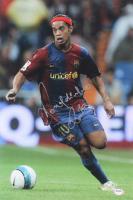 Ronaldinho Signed Barcelona 12x18 Photo (PSA COA) at PristineAuction.com
