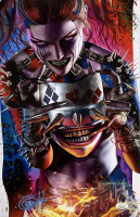 "Greg Horn Signed ""Dragon Harley Quinn Metal Mask"" 11x17 Lithograph (JSA COA) at PristineAuction.com"