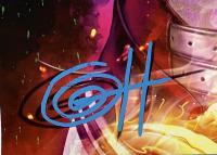 "Greg Horn Signed ""Dragon Harley Quinn Metal Mask"" 11x17 Lithograph (JSA COA) at PristineAuction.com"