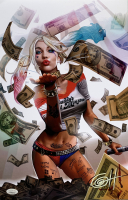 "Greg Horn Signed ""Harley Quinn Blood Money"" 11x17 Lithograph (JSA COA) at PristineAuction.com"