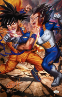 "Greg Horn Signed ""Dragon Ball Z: Goku vs. Vegeta"" 11x17 Lithograph (JSA COA) at PristineAuction.com"