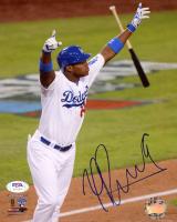 Yasiel Puig Signed Dodgers 8x10 Photo (PSA COA) at PristineAuction.com