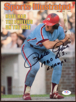 """Pete Rose Signed 1979 Sports Illustrated Magazine Inscribed """"1980 W.S. Champs"""" (PSA COA) at PristineAuction.com"""