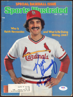 "Keith Hernandez Signed 1980 Sports Illustrated Magazine Inscribed ""79 NL MVP"" (PSA COA) at PristineAuction.com"