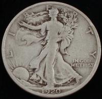 1920-S Walking Liberty Silver Half Dollar at PristineAuction.com