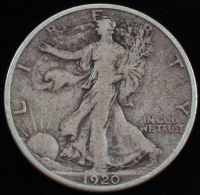 1920-S Walking Liberty Silver Half Dollar at PristineAuction.com