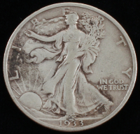 1933-S Walking Liberty Silver Half Dollar at PristineAuction.com