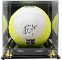 Hope Solo Signed Team USA Nike Soccer Ball with Acrylic Display Case (JSA COA) at PristineAuction.com