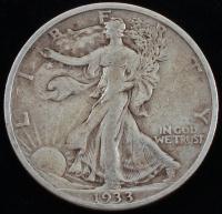 1933-S Walking Liberty Silver Half Dollar at PristineAuction.com