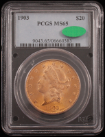 1903 Liberty Head $20 Twenty Dollar Gold Coin (PCGS MS 65) at PristineAuction.com