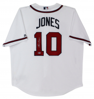 "Chipper Jones Signed Braves Jersey Inscribed ""HOF 18"" (Beckett COA) at PristineAuction.com"