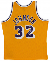 "Magic Johnson Signed Lakers Jersey Inscribed ""HOF 02"" (Beckett COA) at PristineAuction.com"