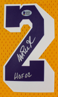 """Magic Johnson Signed Lakers Jersey Inscribed """"HOF 02"""" (Beckett COA) at PristineAuction.com"""