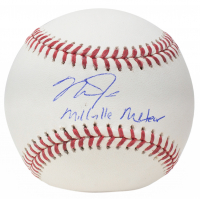 "Mike Trout Signed OML Baseball Inscribed ""Millville Meteor"" (MLB Hologram) at PristineAuction.com"
