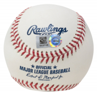 """Mike Trout Signed OML Baseball Inscribed """"Millville Meteor"""" (MLB Hologram) at PristineAuction.com"""