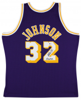"Magic Johnson Signed Lakers Jersey Inscribed ""Showtime"" (Beckett COA) at PristineAuction.com"