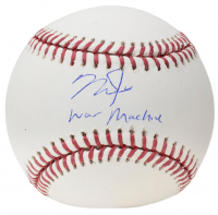 "Mike Trout Signed OML Baseball Inscribed ""War Machine"" (MLB Hologram) at PristineAuction.com"